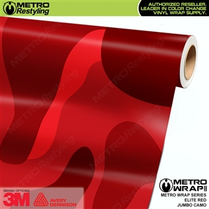Elite Red Jumbo Camouflage Vinyl Wrap Film
