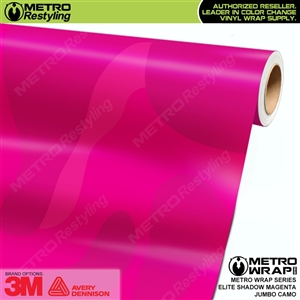 Elite Shadow Magenta Jumbo Camouflage Vinyl Wrap Film