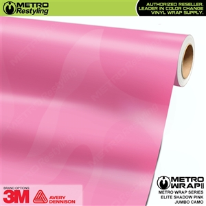 Elite Shadow Pink Jumbo Camouflage Vinyl Wrap Film