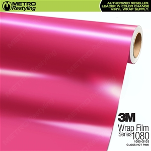 3M 1080 G103 Scotchprint Gloss Hot Pink Vinyl Wrap