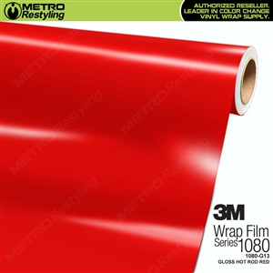 3M 1080 G13 Gloss Hot Rod Red Vinyl Wrapping Material