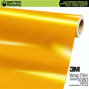 3M 1080 G15 Scotchprint Gloss Bright Yellow Vinyl Wrap