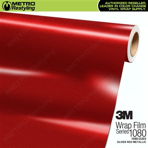 3M 1080 G203 Scotchprint Gloss Red Metallic Vinyl Wrap