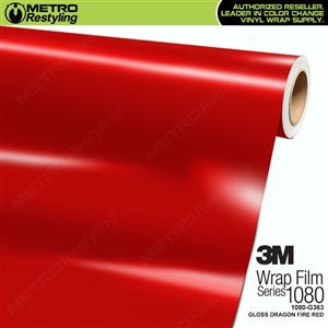 3M 1080 G363 Scotchprint Gloss Dragon Fire Red Vinyl Wrap