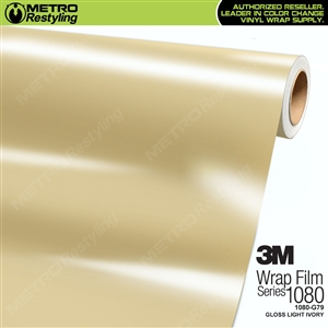 3M 1080 G79 Scotchprint Gloss Light Ivory Vinyl Wrap