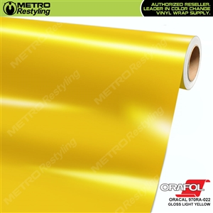 ORACAL Series 970RA High Gloss Light Yellow Vinyl Wrap Film W/Rapid Air