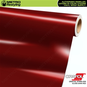 ORACAL Series 970RA Glossy Dark Red Vinyl Wrap Film W/Rapid Air