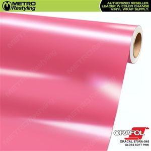 ORACAL Series 970RA Glossy Soft Pink Vinyl Wrap Film W/Rapid Air
