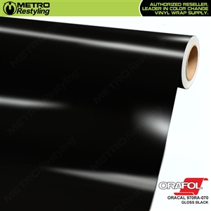 ORACAL Series 970RA High Gloss Black Vinyl Wrap Film W/Rapid Air