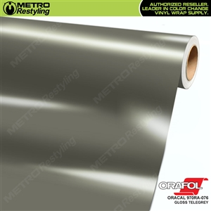 ORACAL Series 970RA Glossy Telegrey Vinyl Wrap Film W/Rapid Air