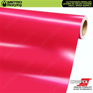 ORACAL Series 970RA Glossy Telemagenta Vinyl Wrap Film W/Rapid Air