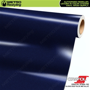 ORACAL Series 970RA High Gloss Deep Blue Metallic Vinyl Wrap Film W/Rapid Air