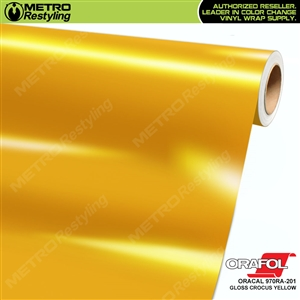 ORACAL Series 970RA High Gloss Crocus Yellow Vinyl Wrap Film W/Rapid Air