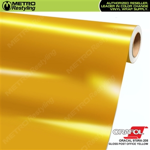 ORACAL Series 970RA High Gloss Post Office Yellow Vinyl Wrap Film W/Rapid Air