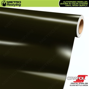 ORACAL Series 970RA Glossy Bottle Green Vinyl Wrap Film W/Rapid Air