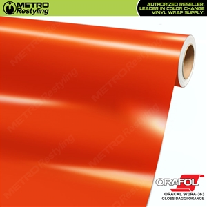 ORACAL Series 970RA Glossy Daggi Orange Vinyl Wrap Film W/Rapid Air