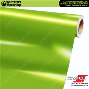 ORACAL Series 970RA Glossy Lawn Green Vinyl Wrap Film W/Rapid Air