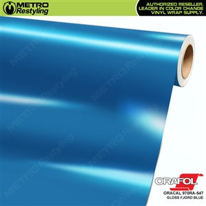 ORACAL Series 970RA Glossy Fjord Blue Vinyl Wrap Film W/Rapid Air