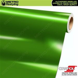 ORACAL Series 970RA Glossy Grass Green Vinyl Wrap Film W/Rapid Air