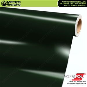 ORACAL Series 970RA Glossy Fir Tree Green Vinyl Wrap Film W/Rapid Air