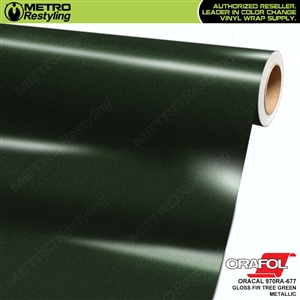 ORACAL Series 970RA High Gloss Fir Tree Green Metallic Vinyl Wrap Film W/Rapid Air
