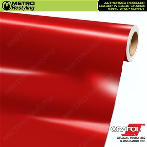 ORACAL Series 970RA Glossy Cargo Red Vinyl Wrap Film W/Rapid Air