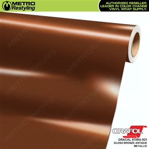ORACAL Series 970RA High Gloss Bronze Antique Metallic Vinyl Wrap Film W/Rapid Air