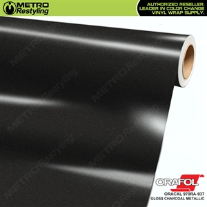 ORACAL Series 970RA High Gloss Charcoal Metallic Vinyl Wrap Film W/Rapid Air