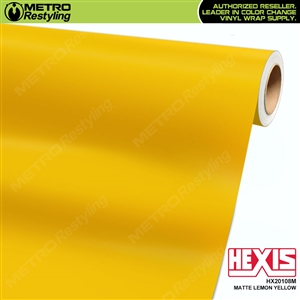 Hexis Matte Lemon Yellow Vinyl Wrap | HX20108M