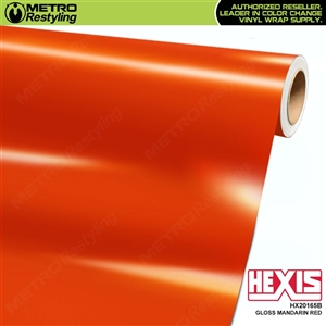 Hexis Gloss Orange Red Vinyl Wrap | HX20165B