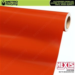 Hexis Matte Orange Red Vinyl Wrap | HX20165M