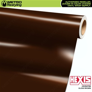 Hexis Gloss Brown Vinyl Wrap | HX20476B