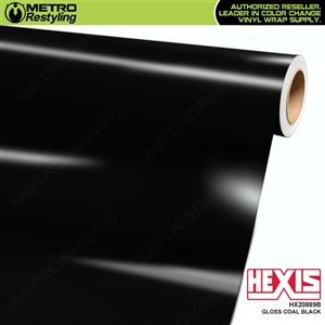 Hexis Gloss Charcoal Black Vinyl Wrap | HX20889B