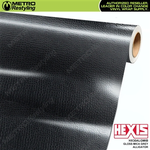Hexis Gloss Mica Grey Alligator Vinyl Wrap | HX30ALGMIB