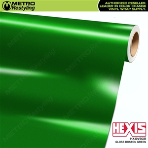Hexis Gloss Boston Green Vinyl Wrap | HX30VBOB