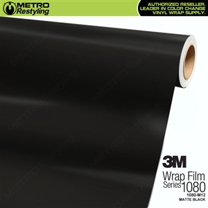 3M 1080 M12 Scotchprint Matte Black Vinyl Wrap