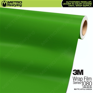 3M 1080 M196 Scotchprint Matte Apple Green Vinyl Wrap