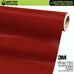 3M 1080 M203 Scotchprint Matte Cherry Red Metallic Vinyl Wrap