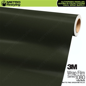 3M 1080 M206 Scotchprint Matte Pine Green Metallic Vinyl Wrap