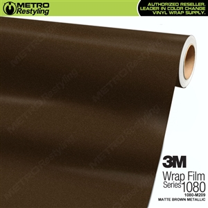 3M 1080 M209 Scotchprint Matte Brown Metallic Vinyl Wrap