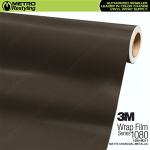 3M 1080 M211 Scotchprint Matte Charcoal Metallic Vinyl Wrap