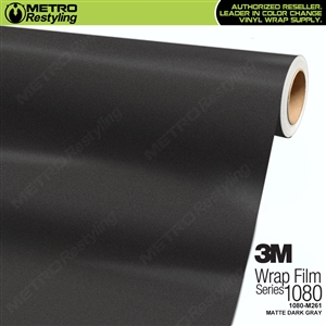 3M 1080 Scotchprint Matte Dark Gray Vinyl Wrap