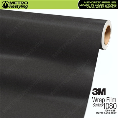 3M 1080 M261 Scotchprint Matte Dark Gray Vinyl Wrap