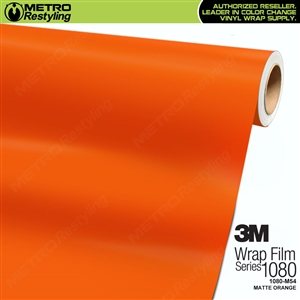 3M 1080 M54 Scotchprint Matte Orange Vinyl Wrap