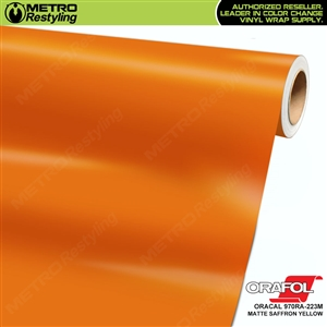 ORACAL Series 970RA Matte Saffron Yellow Vinyl Wrap Film W/Rapid Air