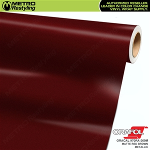 ORACAL Series 970RA Matte Red Brown Metallic Vinyl Wrap Film W/Rapid Air