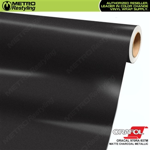 ORACAL Series 970RA Matte Charcoal Metallic Vinyl Wrap Film W/Rapid Air