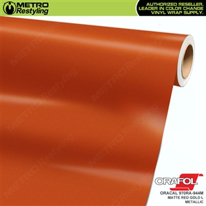 ORACAL Series 970RA Matte Red Gold L Metallic Vinyl Wrap Film W/Rapid Air