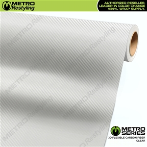 Clear Metro 3D Flexible Carbon Fiber Vinyl Wrap
