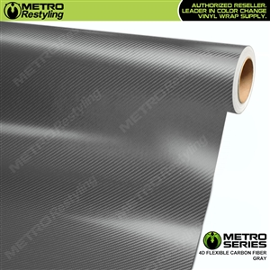 Metro Series Grey 4D HD Flexible Carbon Fiber Vinyl Wrap Film